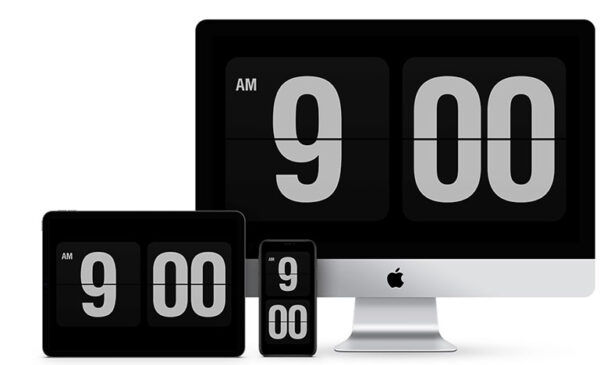 reloj salvapantallas mac